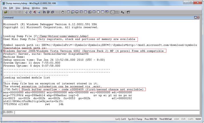 Learn WinDbg - Watson dump analysis with SOS