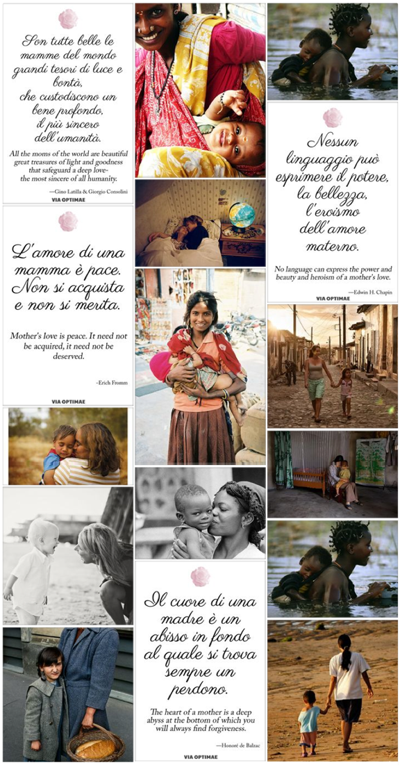 Per l'amore della mamma collage from Via Optimae, http://www.viaoptimae.com/2014/05/per-lamore-della-mamma.html