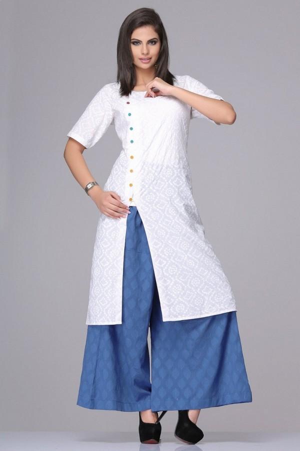 Perfect Kurta With Slim Fit Pants For Women  Buy Vishudh Green Amp Pink Kurta