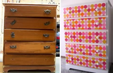 Come rinnovare una vecchia cassettiera la casa delle idee for Regalo mobili vecchi