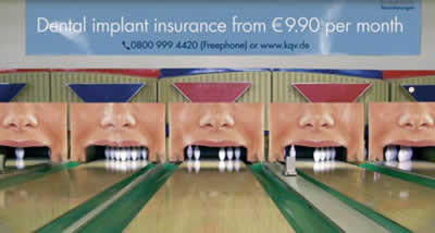 Funny Dental care advertisement illusion