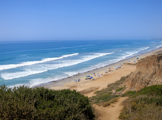Praia San Onofre State Beach na Califórnia