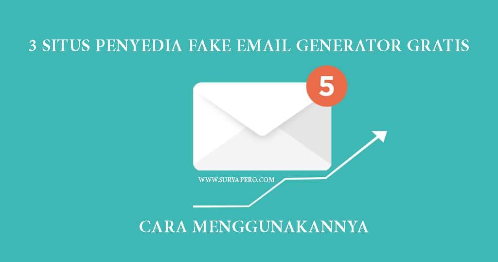 fake email cara pembuataannya sangat singkat, jadi tidak perlu membuang waktu terlalu banyak untuk menulis data diri.