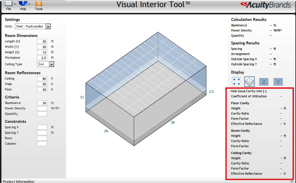 Lighting Design Calculations By Using On Line Tools
