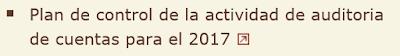 PLAN DE CONTROL DE LA ACTIVIDAD DE AUDITORIA DE CUENTAS PARA 2017