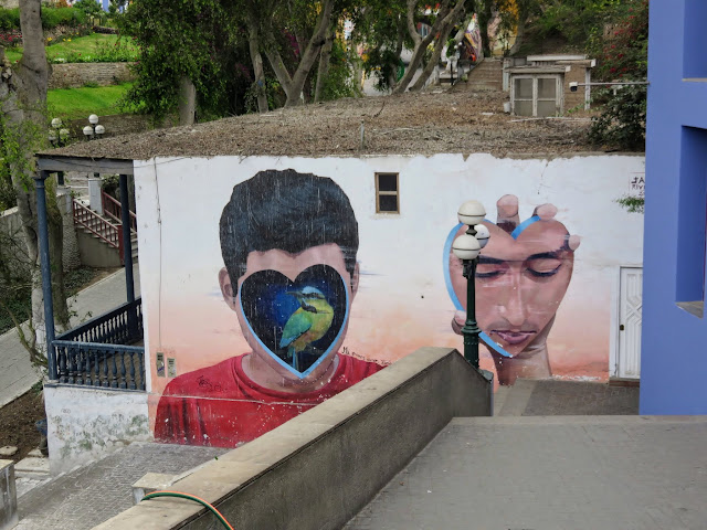 Street art in the Barranco District of Lima Peru