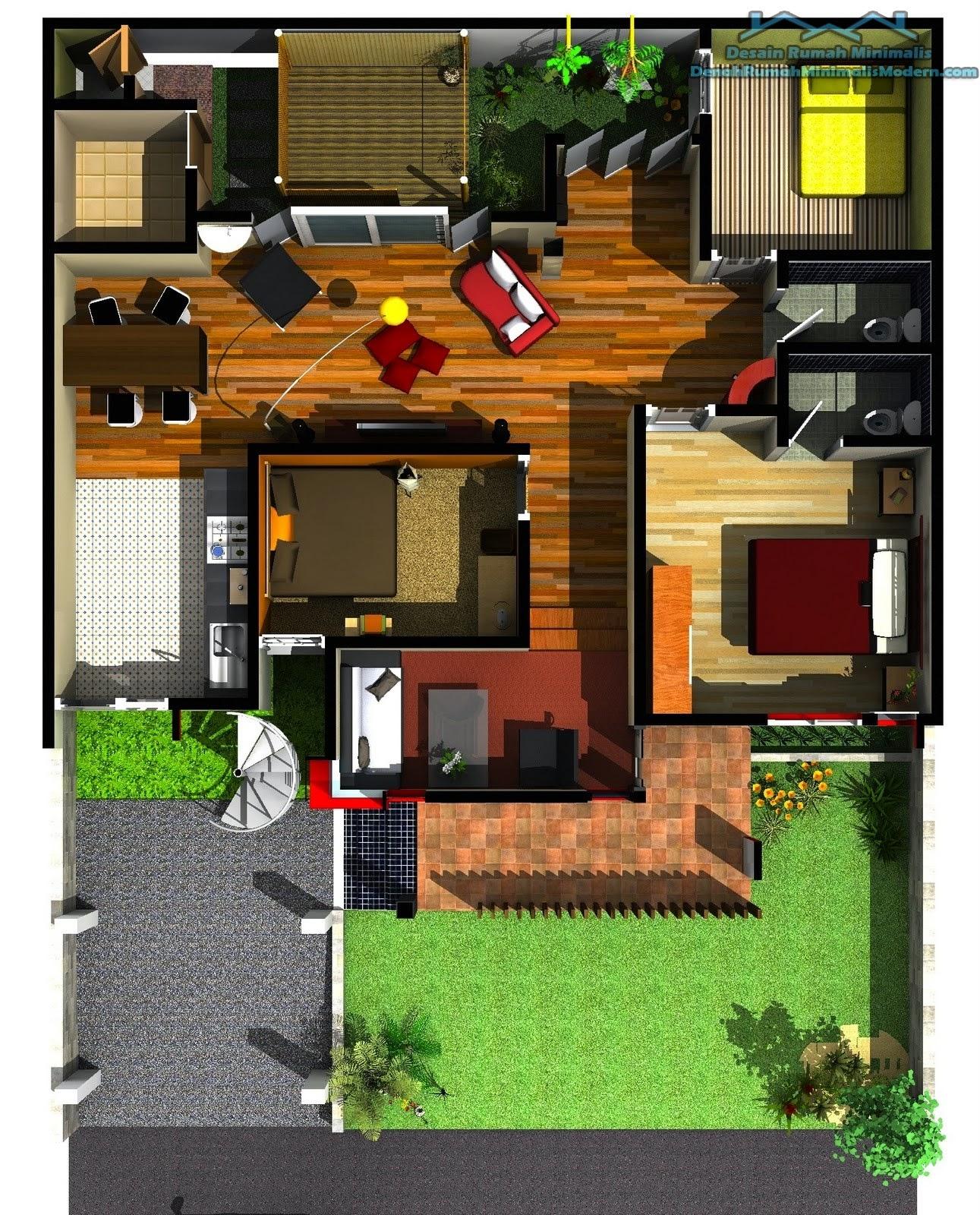 3 Contoh Denah Rumah Minimalis Modern Terbaru: 61 Desain Rumah Minimalis Luas Tanah 110