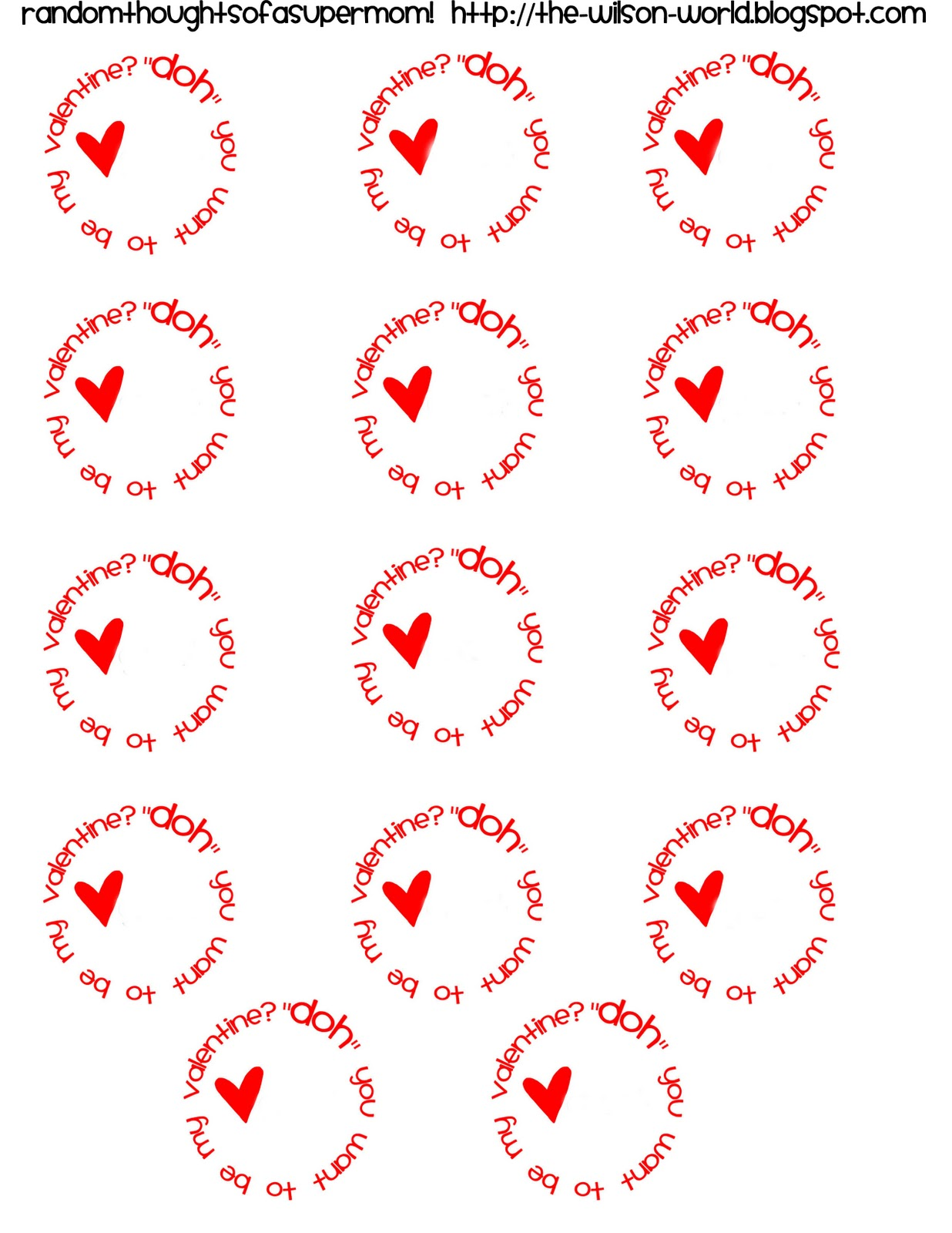 Random Thoughts Of A Supermom Play Doh Valentines With Printable Labels