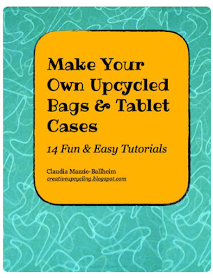 my free ebook about making your own upcycled bags and tablet cases