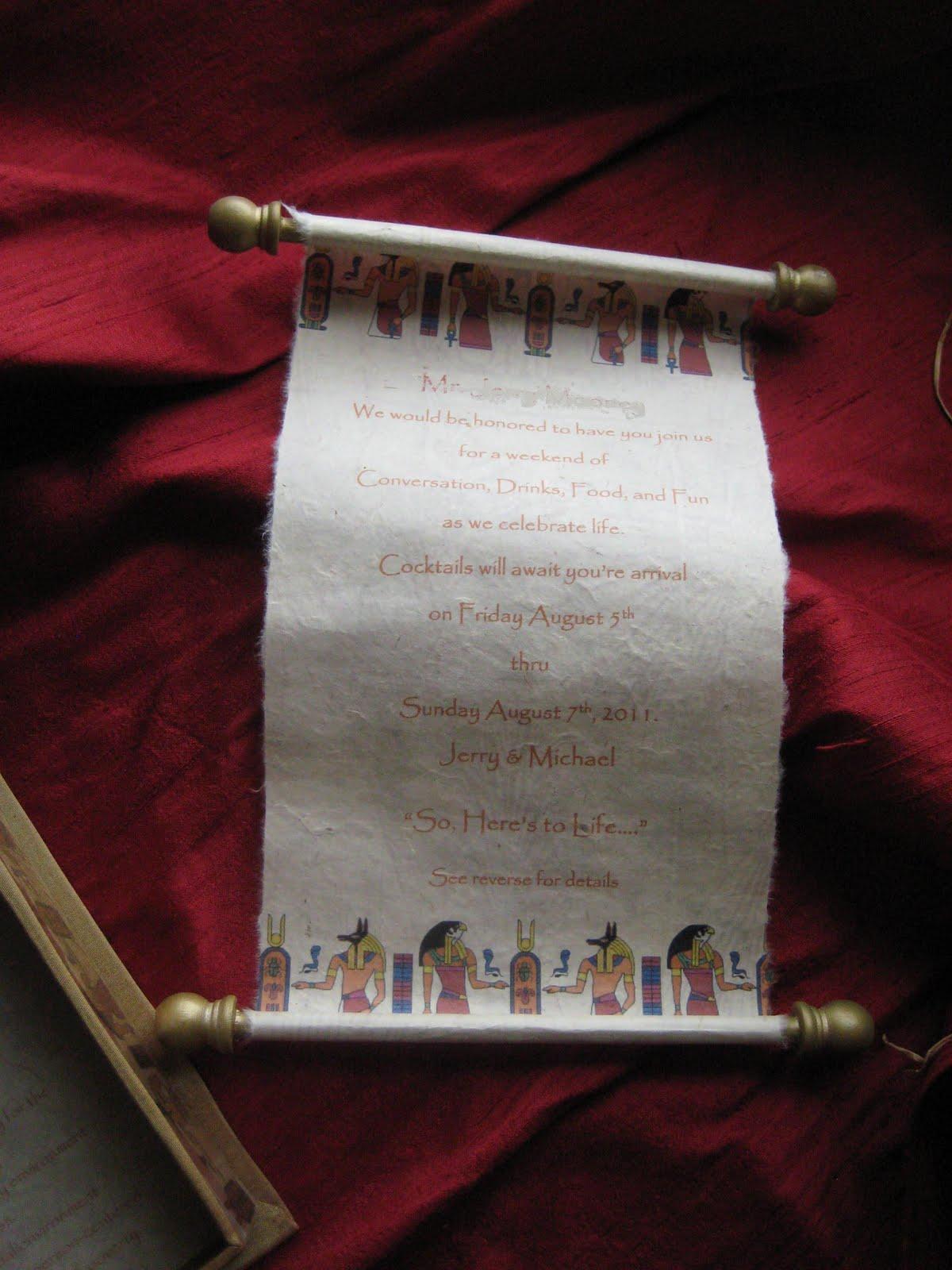 Revelry Invitation Studio Chatter Ancient Egyptian Themed
