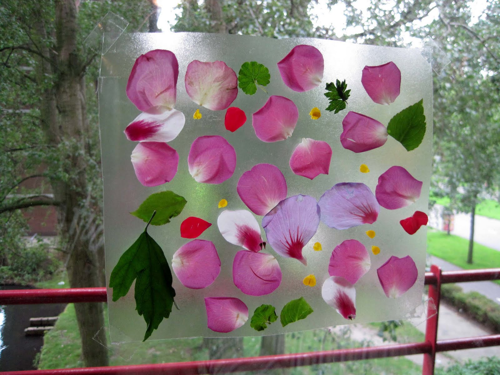 My Joy Is There Flower Petal Suncatcher