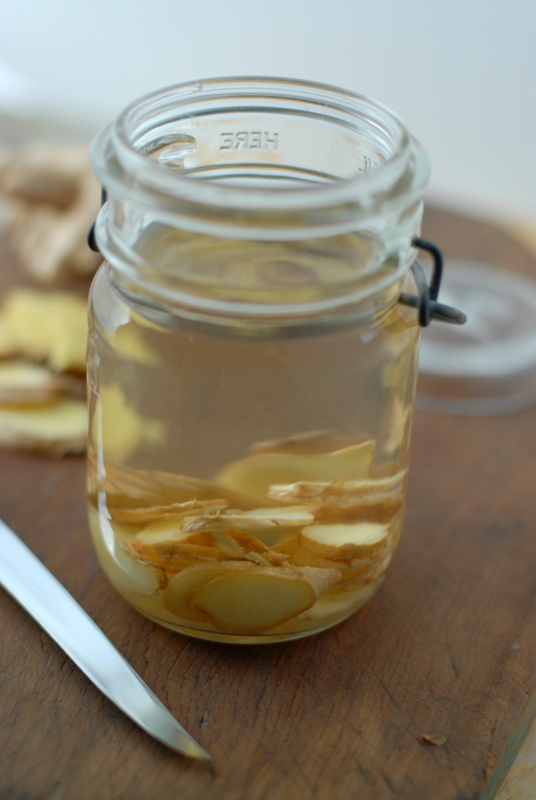 Homemade Ginger Infused Vodka