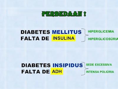 diabetes melitus dan diabetes insípida adalah
