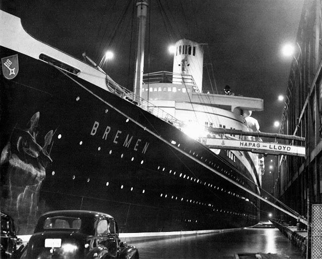 ss ts BREMEN photographed during the night of 29th to 30th 1939