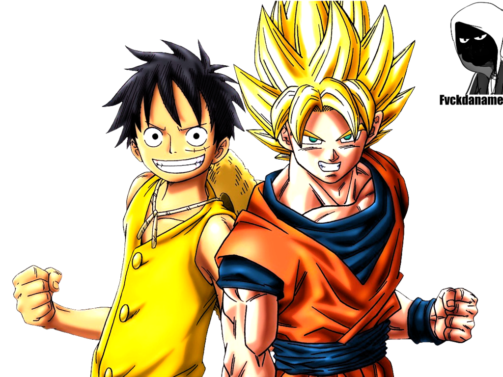 Render Luffy y Son Goku