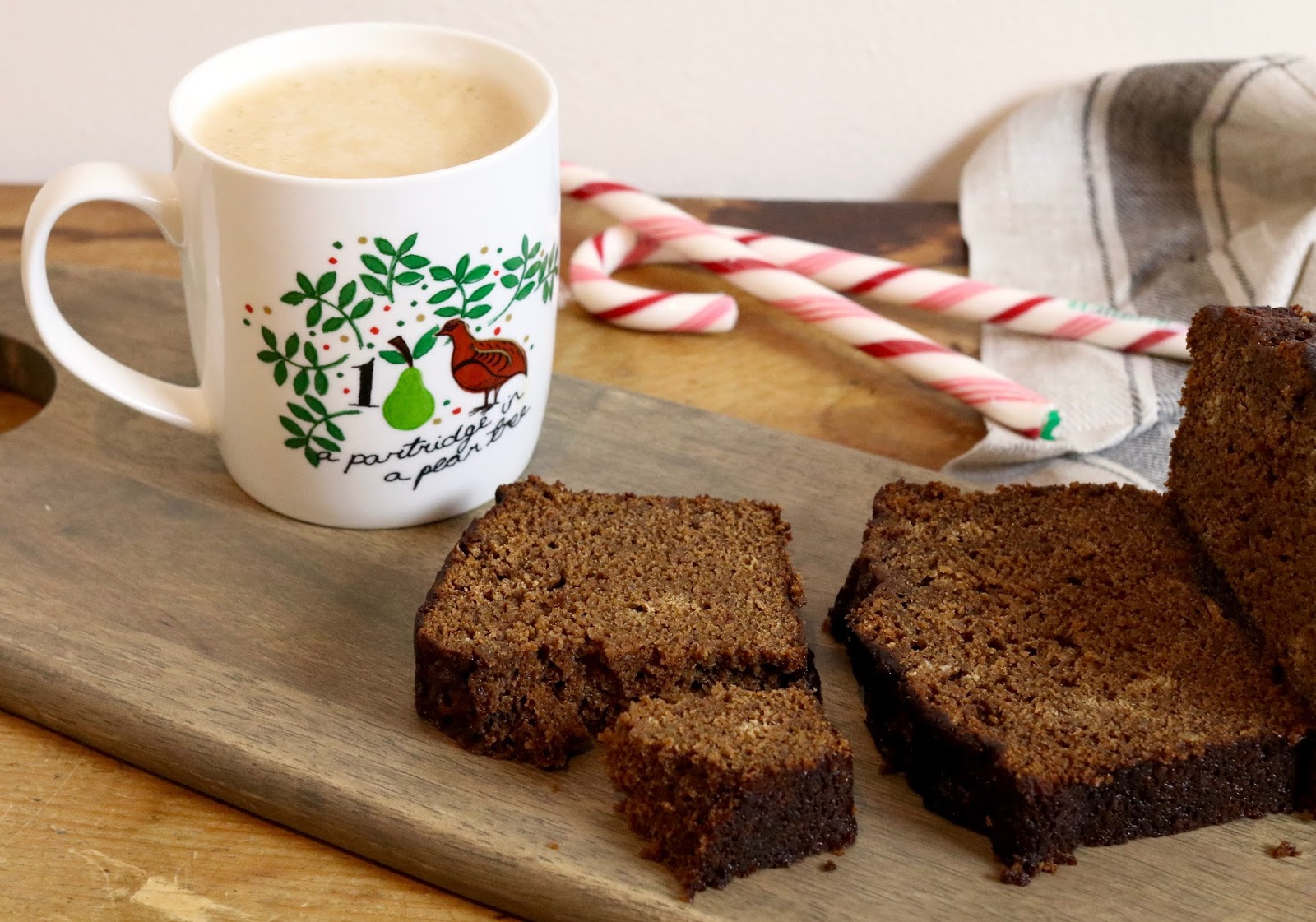 Festive-breakfas-ideas-gingerbread-loaf-coffee-and-cake