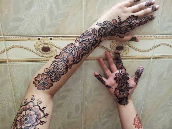 Mehndi Hairstyles 2014 : Exclusive mehndi designs for young girls from
