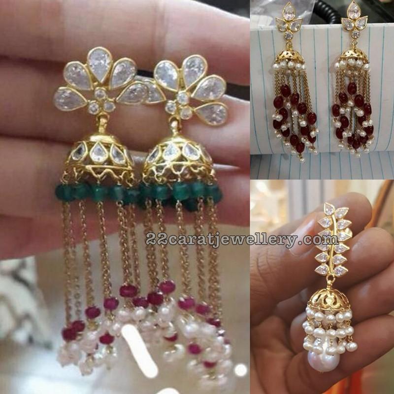 1a920ea77b042 Light Weight CZ Hoops - Jewellery Designs