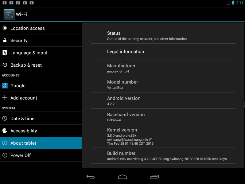 New Android-x86 4 2 Test Build (Based On Android 4 2 2