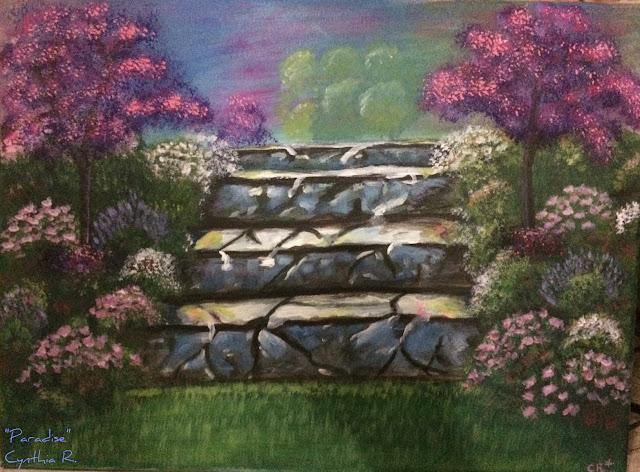 Arte, don y pasión, paisaje, pintura acrílica, blog