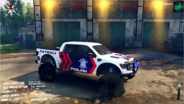 Mod Ford Raptor Polisi Indonesia Re-edit Spintires