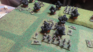 British artillery falls on the German attackers!