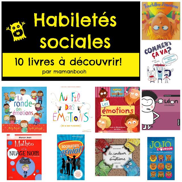 Habiletés sociales: 10 livres pour aider!