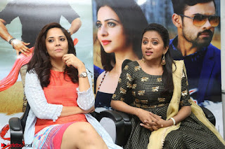 Actress Suma in Black Salwar Suit and Anusuya in orange Dress at winner movie press meet part 2 February 2017 (22).JPG
