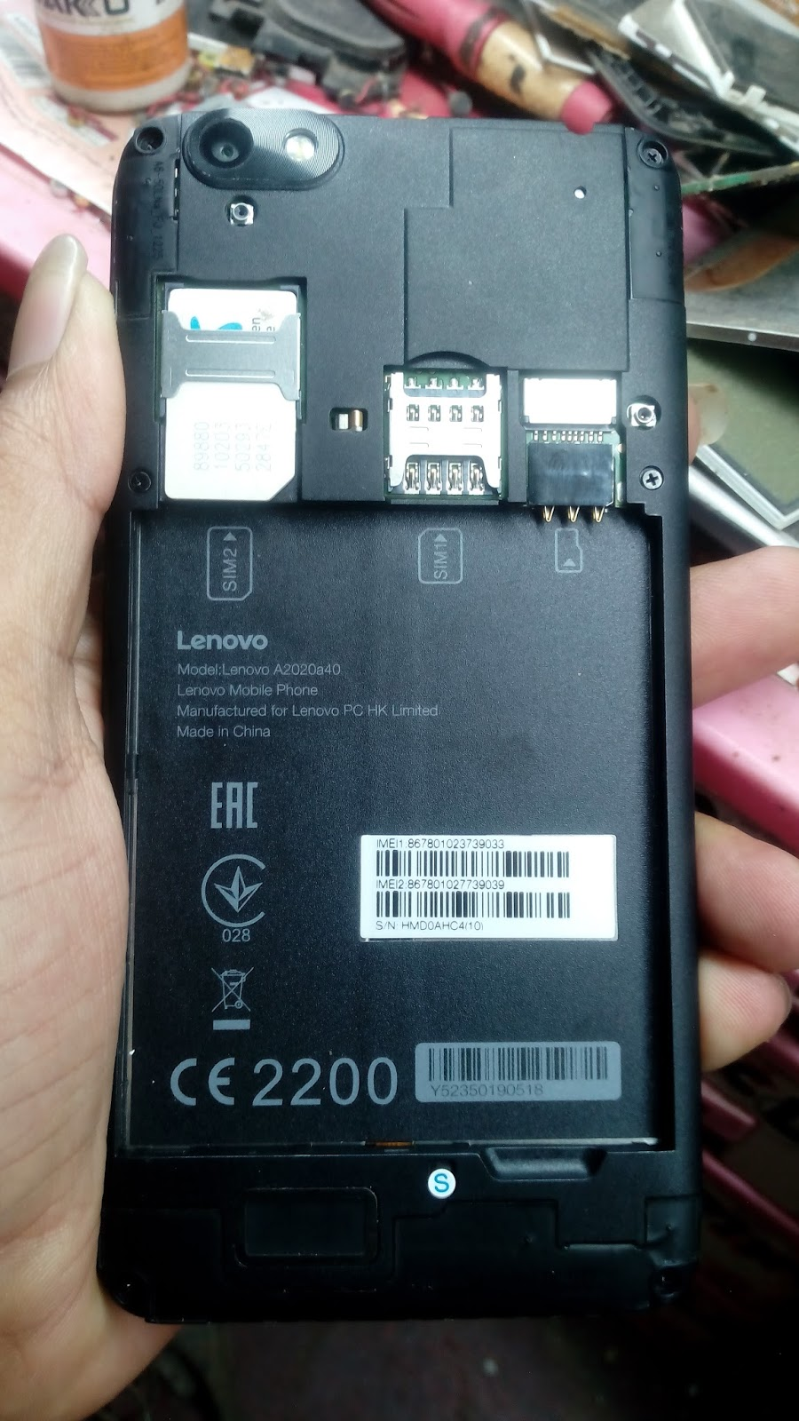Lenovo A2020a40 Firmware Tested