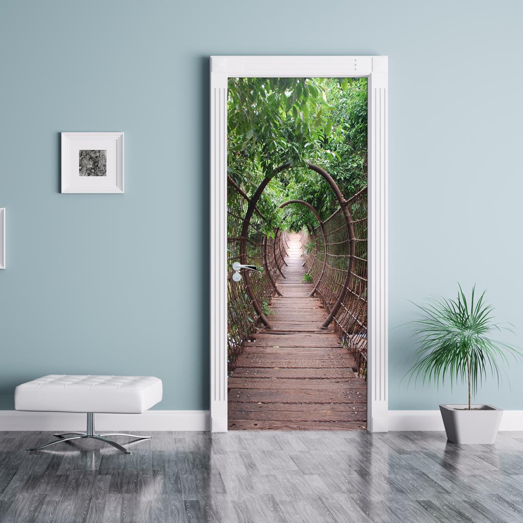 Papel pintado fotomurales adhesivos para puertas for Papel pintado para puertas