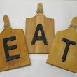 Cutting Board EAT Kitchen Sign