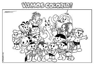 Pintar E Divertido Desenhos Para Colorir Monica