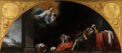 El sueño del patricio Juan y su esposa - Murillo - 1662/65 Óleo sobre tela, 232 x 522 cm Museo del Prado - Madrid