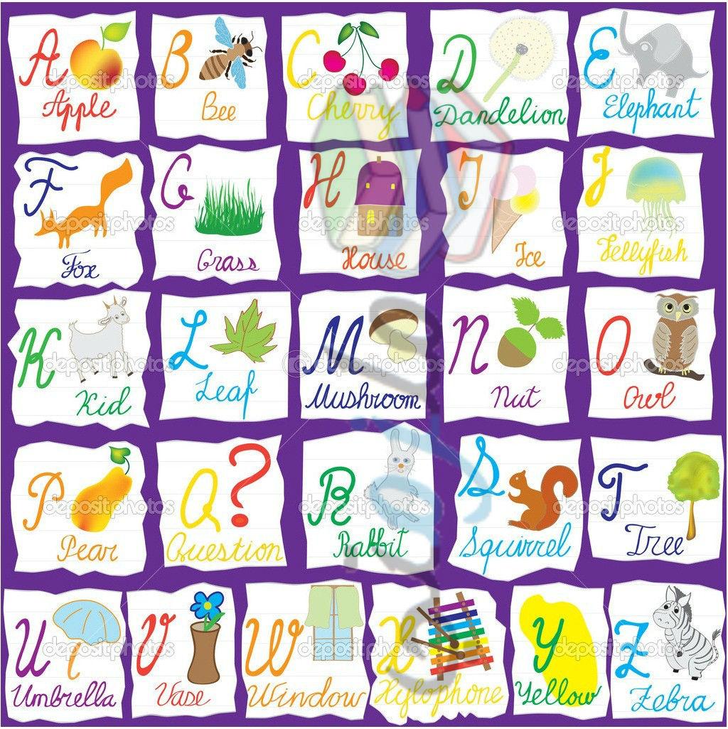 آموزش رومیزی گرد بلند حروف اللغه الانجليزيه للاطفال
