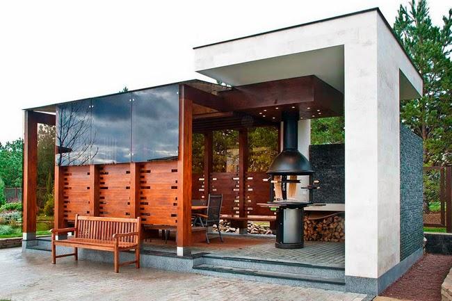 Casas minimalistas y modernas quinchos modernos en villas for Casa moderna quincho