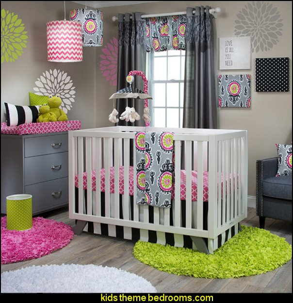 Pippin 3 Piece Crib Bedding Set girls baby nursery