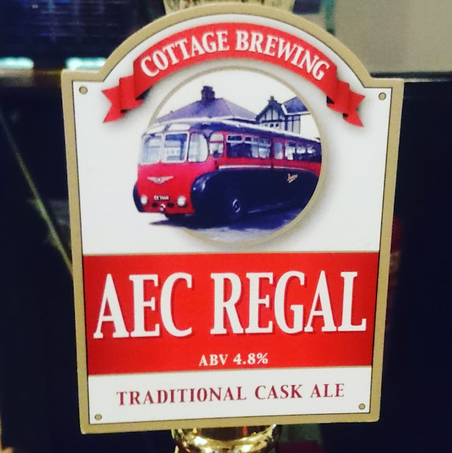 Somerset Craft Beer Review: AEC Regal from Cottage Brewing real ale pump clip