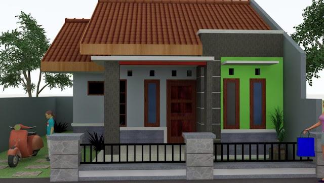 desain rumah sangat sederhana sekali