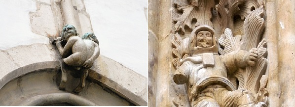 Huevos de pascua en fachadas de catedrales