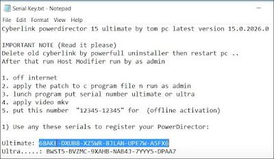 cyberlink powerdirector 16 serial key