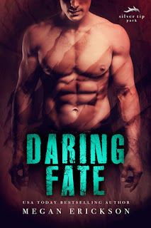 romance novel cover, paranormal romance, m/m romance, daring fate by megan erickson
