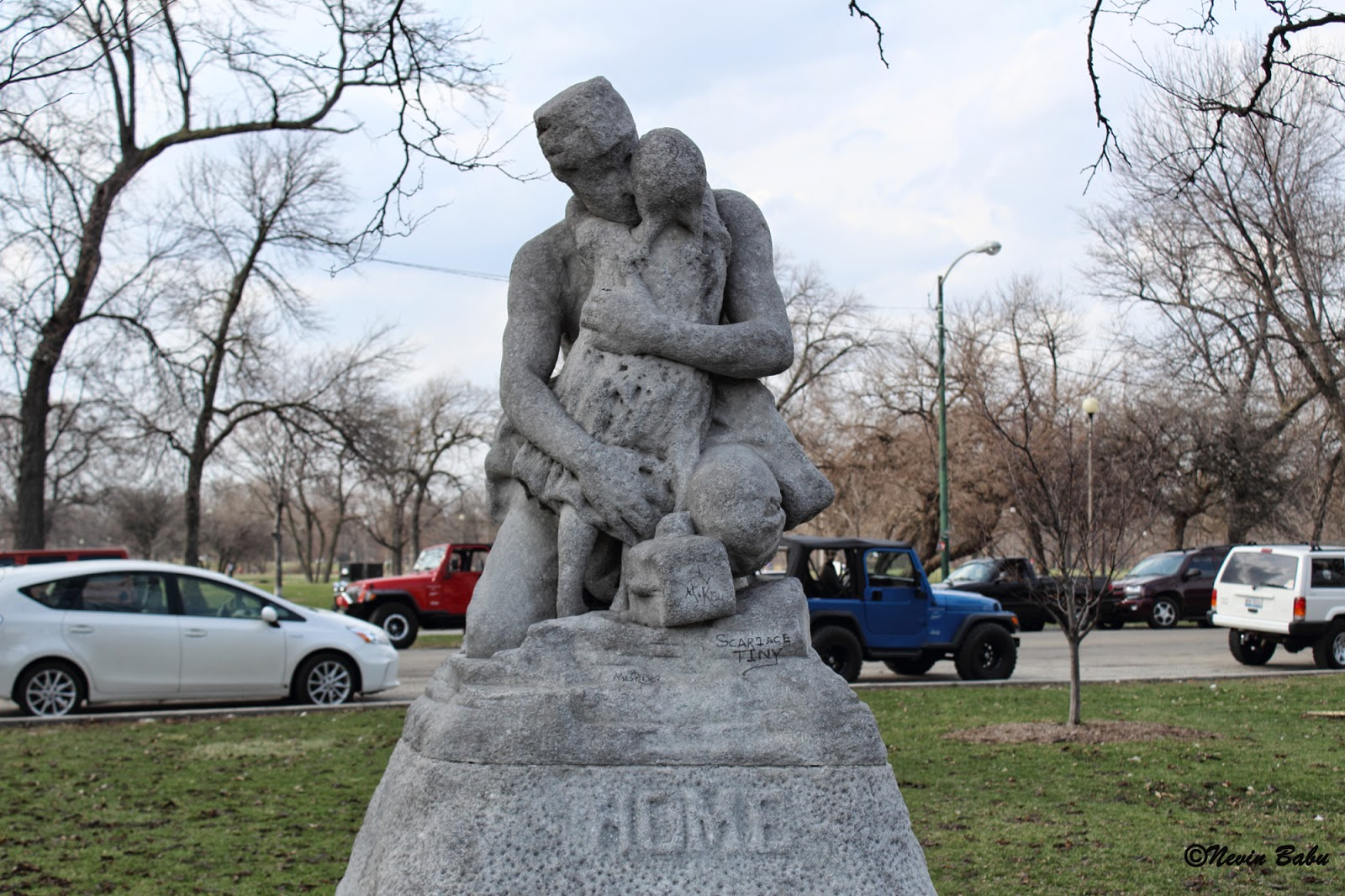 Home sculpture at Humboldt Park