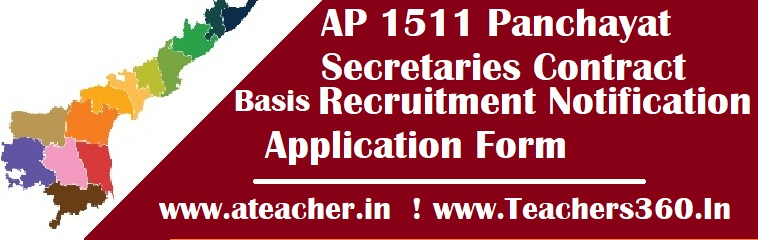 AP 1511 Panchayat Secretaries Contract Basis Recruitment Notification, Application Form