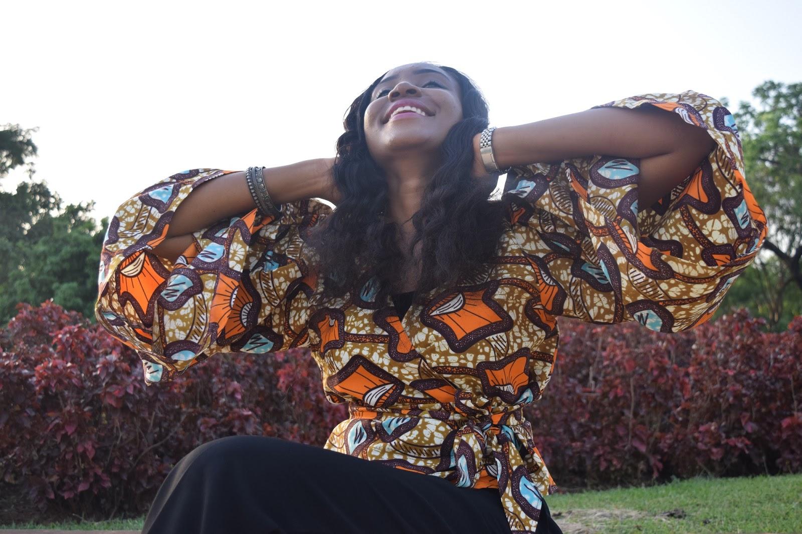 Ankara, African print, wrap top, ankara wrap top.