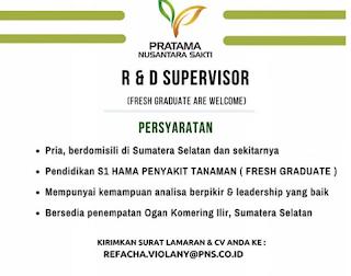Bursa Kerja Lampung Maret 2018 - PT Pratama Nusantara Sakti