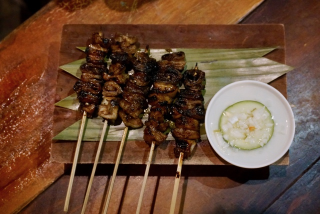 isaw, isaw babol, tol!, offal, pork intestines, Mang Larry's Isawan, UP Diliman, Kalayaan Residence Hall