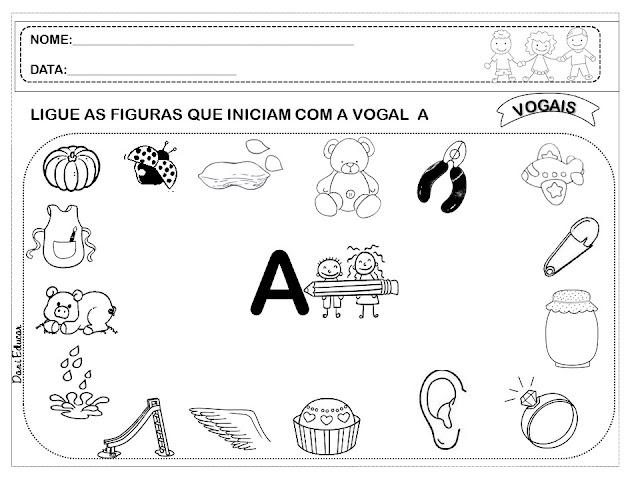 Nesta postagem trago para vocês Atividades para Imprimir - Ligue Vogais, indicado a alunos da Educação Infantil.