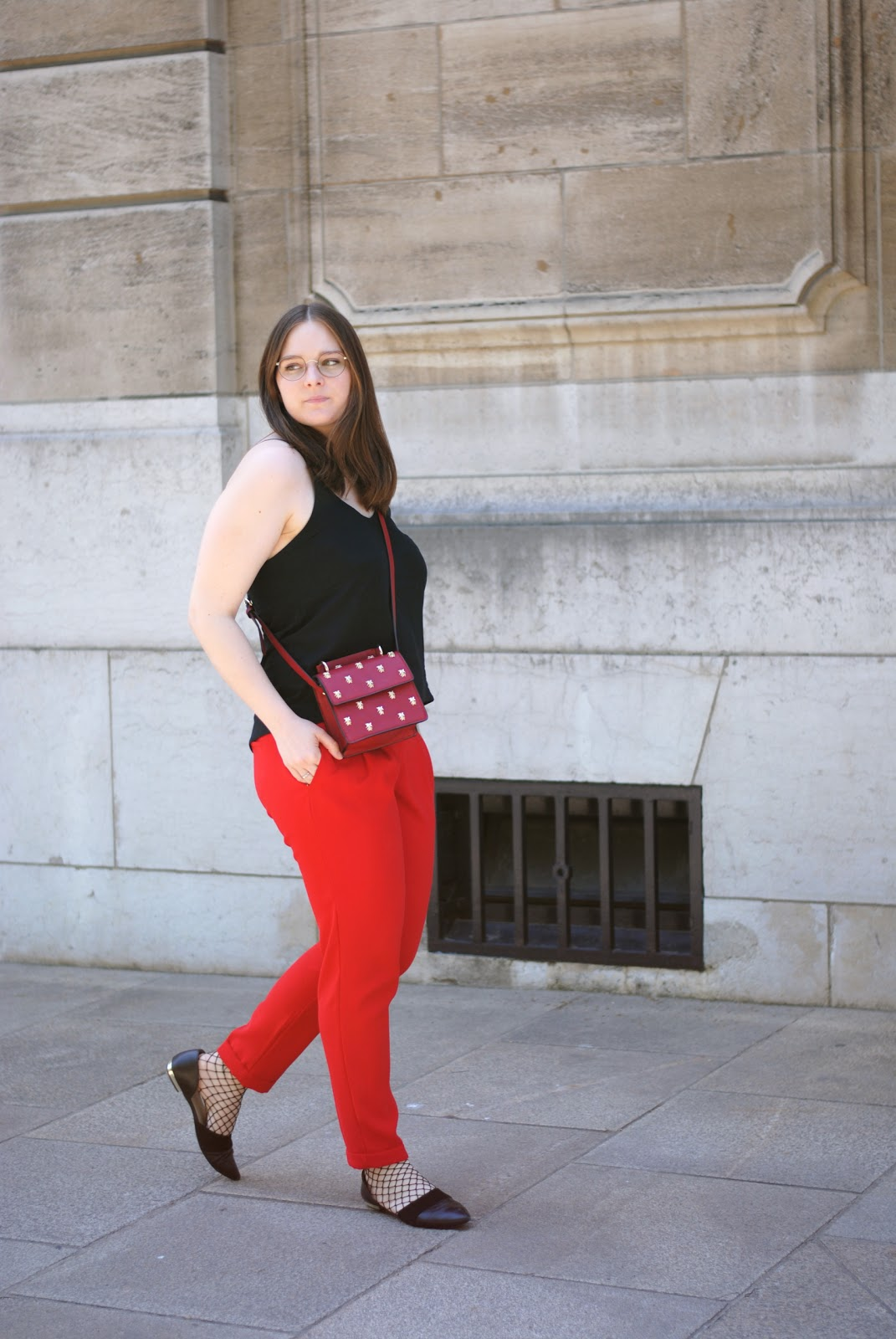 red pants outfit fashion blogger luxembourg