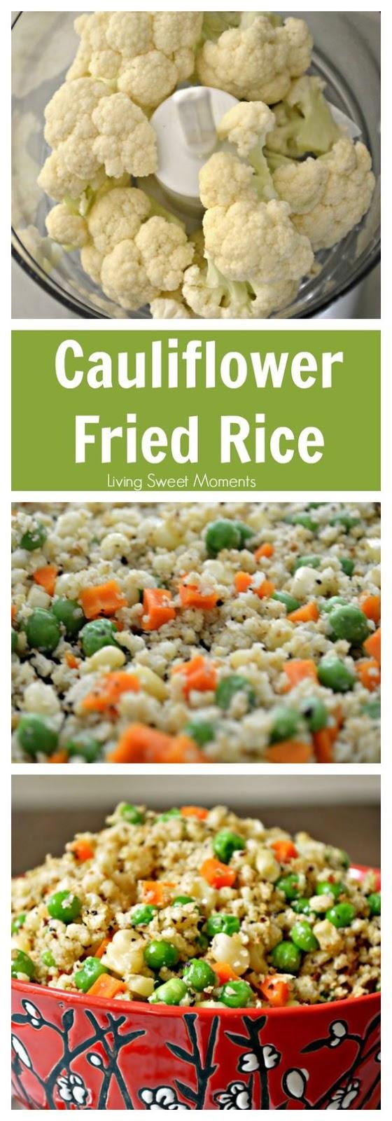 DELICIOUS CAULIFLOWER FRIED RICE #cauliflower #friedrice #deliciousfood #healthyrecipes #healthyfood