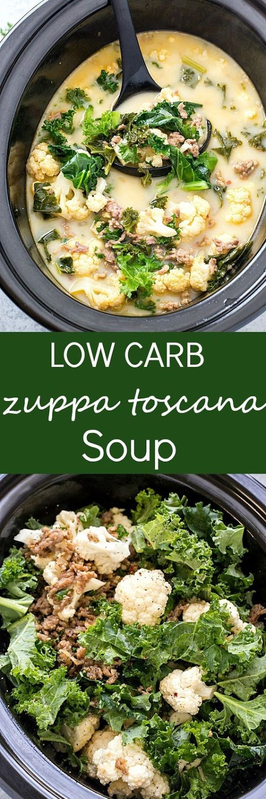 Slow Cooker Low Carb Zuppa Toscana Soup